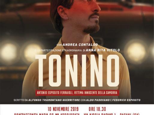 """""""TONINO""""  DOMENICA 10 NOVEMBRE, ALLE 18.30, PROIEZIONE E RIFLESSIONE  ALLA CONFRATERNITA MARIA SS.MA ADDOLORATA IN PAGANI"""