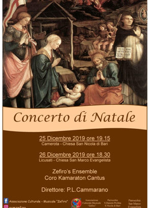 NATALE A CAMEROTA, ZEFIRO TORNA IN CONCERTO